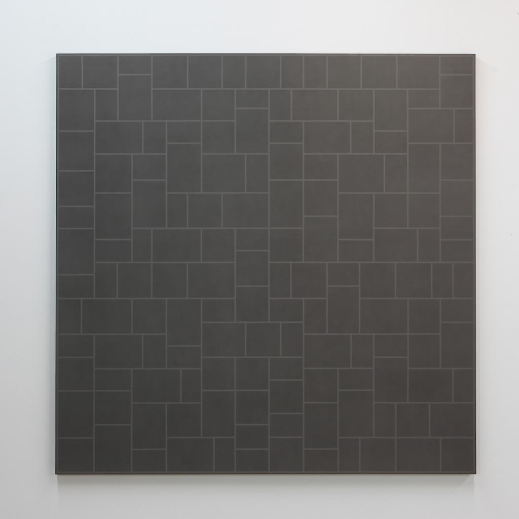 Daniel Langevin, Pattern I, 2018, acrylique sur coton monté sur panneau, 183 x 183 cm