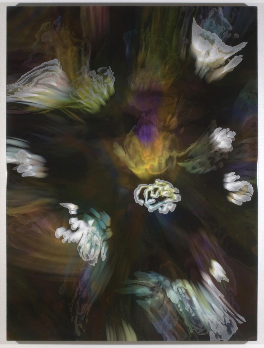 François Lacasse, Grande échappée V, 2019, acrylique et encre sur toile, 162,6 x 121,9 cm