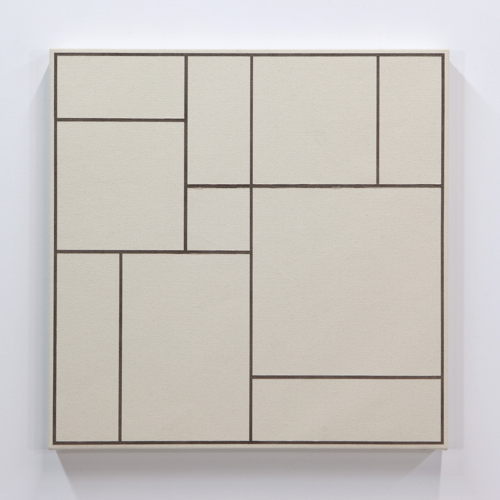Daniel Langevin, Fig. III, 2018, acrylique sur toile montée sur panneau, 61 x 61 cm