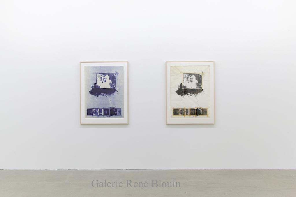 Charles Gagnon, Millerton, 1971, Collage Polaroid et cyanotype,110x 80,7 cm / 43.3 x 31,7 po (chaque élément)