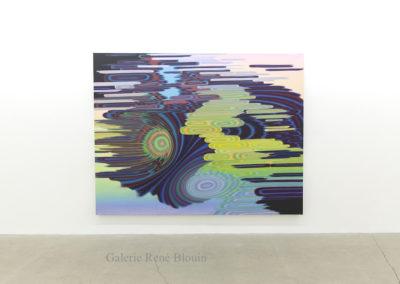 Sillage 6 (Le tableau de Leipzig) / Wakes 6 ( The Leipzig painting), 2019, acrylique sur toile, 78 x 101 po