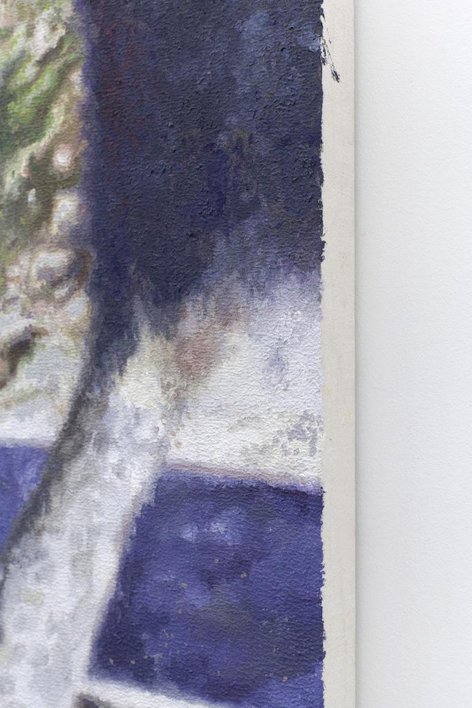derrick, (détail), Acrylique et huile sur toile, 48 x 36 po